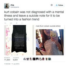 Pin for Later: Kurt Cobain's Suicide Note Just Became a T-Shirt?! Twitter Responses to the Kurt Cobain T-Shirt