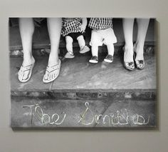 Custom Wired Canvas Portrait - Your picture, your wire phrase!