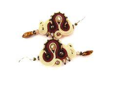 Soutache Earring Marsh Ular- Ozdoby Ziemi  #earrings #soutache #sutasz #soutacheJewelry #handmadeJewelry #handmade #handEmbroidery