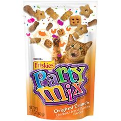 Crunchy Party Mix Pouch Cat Treats Quantity: Case of 10, Flavor: Original * Visit the image link more details.