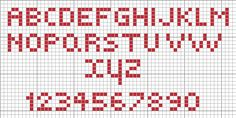 "Free Cross Stitch Pattern ""Small Alphabets"""