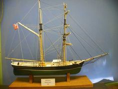 "Brigantine Maggie Belle - This model makes a nice representation of ships of the period. The drawings consist of a highly detailed set of five (5) sheets drawn to a scale of 3/16""=1'-0"" and were developed for a Plank on Bulkhead model construction."
