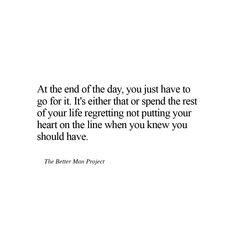 No regrets. Ever.