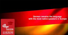 German remains the language with the most native speakers in Europe and Germany is one of the top most education destinations. Students who wish to study in Germany, kindly contact with Riya Education - an overseas educational consultancy. #europe #business #master #bachelor #foreign #schengen #kottayam #kerala #india