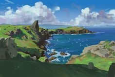 159/365 Coastline, Atey Ghailan on ArtStation at https://www.artstation.com/artwork/k2qVz