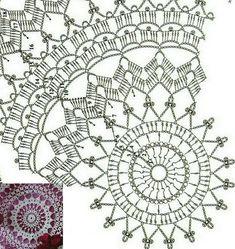 Agnes pattern by Zoya Matyushenko Crochet Throw Pattern, Crochet Mandala Pattern, Doily Patterns, Crochet Patterns, Crochet Pants, Thread Crochet, Crochet Stitches, Crochet Dollies, Crochet Lace