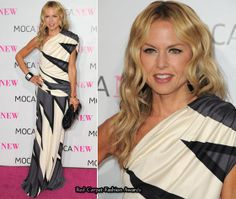 Rachel Zoe opted for a one-shouldered Pucci gown
