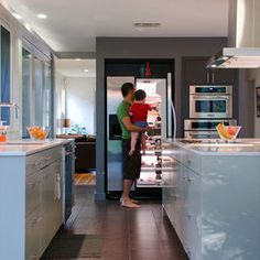 Modern Kitchen - modern - kitchen - other metro  example of painted and then high gloss, can be any color