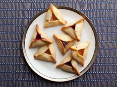 Hamentashen Recipe : Duff Goldman : Food Network - FoodNetwork.com    I just used the poppyseed filling recipe. I substituted applesauce for honey and truvia for sugar. Used egg whites and skim milk.