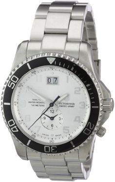 Men's Wrist Watches - Victorinox Swiss Army Mens 241442 Maverick GS Dual Time Silver Double Date Dial Watch *** Read more at the image link.