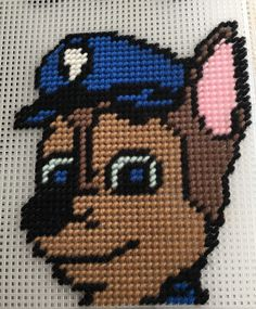 Cross Stitch Paw Patrol(CHASE) by Marcelle Powell ❤️