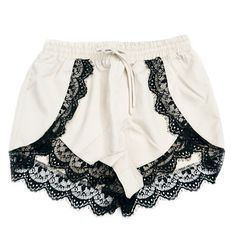 Lace trim shorts are now available in Ivory! Check out our new arrivals online at  www.shoplovestreet.com #shoplovestreet ✨