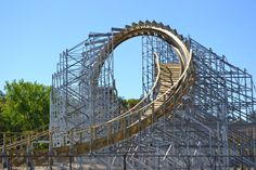 I am a one-of-kind ride, travel at blazing speeds, and loop Hades 360 Coaster at Mt. Also includes the world's longest underground wooden roller coaster tunnel. Parc A Theme, Wisconsin Dells, Roller Coasters, Cool Themes, George Washington Bridge, Hades, Olympus, Outdoor Gardens, Places To See