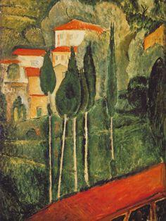 Amedeo Modigliani: Landscape (1919)