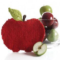 Apple of My Eye Dishcloth | AllFreeKnitting.com