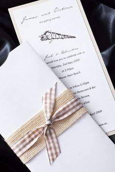 Beautiful invitation for a beach wedding