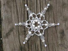 sněhová vločka Bracelets, Silver, Jewelry, Beading, Stars, Beads, Jewlery, Jewerly, Schmuck