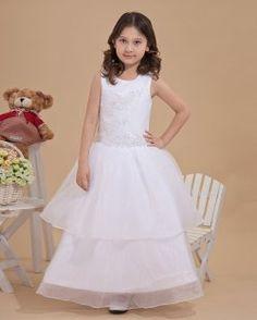 Satin Tulle mignon perle Embellissement des robes de demoiselle