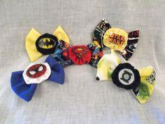 Superhero Comic Book Nerd Bows by CrazyJanesPinUpLife on Etsy, $6.99