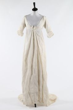 Whitework Embroidered Muslin Dress, ca. 1805via Kerry Taylor...