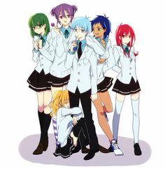 Female!Midorima Shintarou, Female!Murasakibara Atsushi, Female!Kise Ryouta, Female!Kuroko Tetsuya, Female!Aomine Daiki, and Female!Akashi Seijuurou  Teikou; Generation of Miracles 