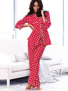 Victoria Secret Dreamer Flannel Pajamas! I think I'd own the whole store if I could buy them all.