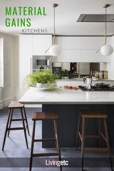 Luxury Kitchen Old meets new in this grandiose London property - This Victorian west London property radiates liveable and relaxed grandeur, thanks to a well-judged balance of old and new designs. Farmhouse Style Kitchen, Home Decor Kitchen, Rustic Kitchen, New Kitchen, Kitchen Ideas, Kitchen Inspiration, Modern Farmhouse, Kitchen White, Kitchen Hacks