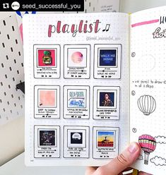 Isn't this bullet journal page AWESOME? Loving this from ・・・ Now, this playlist spread did not go…Honestly! Isn't this bullet journal page AWESOME? Loving this from ・・・ Now, this playlist spread did not go… Bullet Journal School, Bullet Journal Notebook, Bullet Journal Themes, Bullet Journal Spread, Bullet Journal Layout, Bullet Journal Inspiration, February Bullet Journal, Bullet Journal Habit Tracker, Bullet Journal Sections