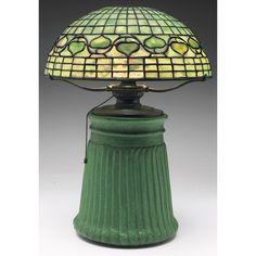 Wheatley Pottery Lamp - Arts & Crafts - Tiffany