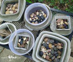 Easy Poured Concrete Bowls – simple poured concrete vessels - All For Garden Concrete Casting, Concrete Leaves, Concrete Molds, Concrete Cement, Poured Concrete, Concrete Crafts, Concrete Projects, Concrete Garden, Concrete Design