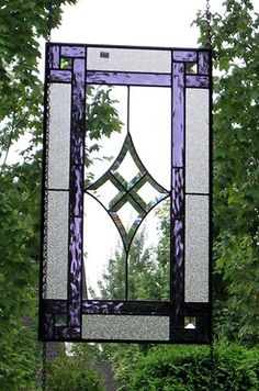Stained Glass Panel with diamond bevel