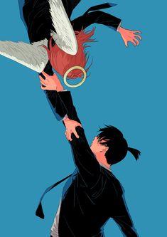 Anime Ai, Anime Nerd, Anime Manga, Anime Guys, Angel And Devil, Guache, Anime Artwork, Bungou Stray Dogs, Animes Wallpapers