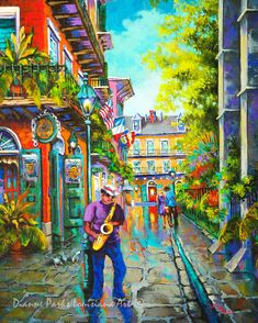 Pirates Alley Jazz Music New Orleans French Quarter Art Stretched Canvas Or Print