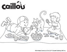 Caillou Coloring Sheet – Easter Egg Fun!