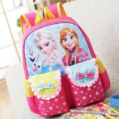 school bags cartoon elsa anna Bags children backpack for kids girls mochila  infantil Cartoon Backpack Girl efdb0260a5305