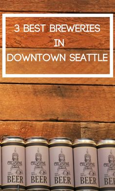 Downtown Seattle has three great breweries to quench your thirst and they are all within walking distance of each other! If you love beer, check them out.