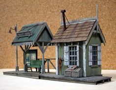 S-Scale - Dioramas - Model Railroad Forums - Freerails Ho Scale Buildings, Small Buildings, Building Structure, Model Building, Ho Trains, Model Trains, Escala Ho, Old Train Station, Model Train Layouts