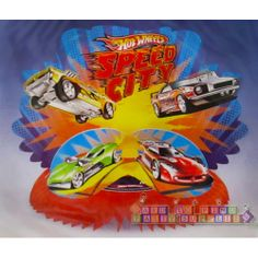 Hot Wheels 'Speed City' Honeycomb Centerpiece (1ct) || Hard To Find Party Supplies