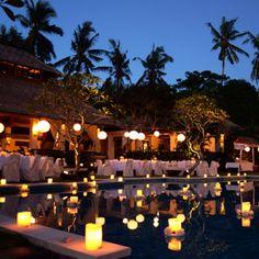 Bali wedding decor