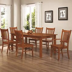 east west furniture vanc9oakw 9piece dining room table set * you, Esstisch ideennn