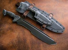 Miller Bros. Blades custom knife and sheath set