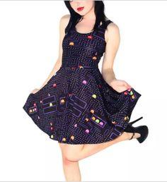 Pac-Man Gamer Skater Dress