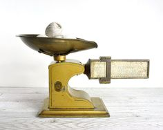 Vintage Industrial Metal Postal Scale / Industrial Decor