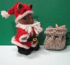 Knitting pattern: Sylvanian Families clothes 'Santa' | eBay