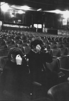 Ringo Starr and George Harrison the photographers, 1964