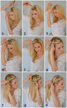The BoHo braid, by @Brooke Baird White via @Ashley Walters Stock  // I should have taken a picture of when I tried this awesome hair. Ha! Apparently I have nothing but thumbs, but I will try, try again!