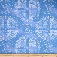 """108"""" Wide Quilt Backing Medallion Tonal Blue