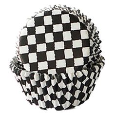 Racing Flag Checkered Cupcake Cups - Easy for Blaze & the Monster Machines theme