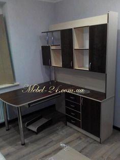 Компьютерный стол СК 15 (Фото) Орех тёмный и дуб молочный, угловой стол, Тиса мебель, цена