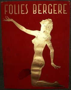 Vintage 1950s Folies Bergere Program. by RecyclingTheBlues on Etsy